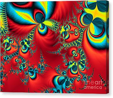 Peacock Fractal Canvas Print by Ian Mitchell
