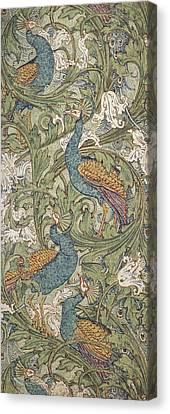 Peacock Garden Wallpaper Canvas Print by Walter Crane