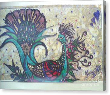 Peacock Goes Classy.. Canvas Print by Harshita Chawla