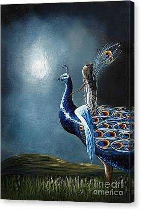 Peacock Princess By Shawna Erback Canvas Print by Shawna Erback