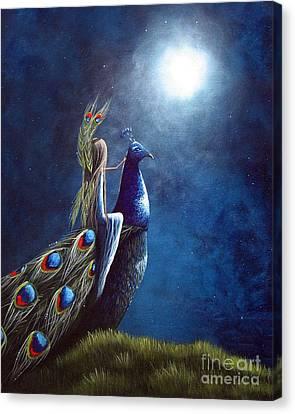 Peacock Princess II By Shawna Erback Canvas Print by Shawna Erback