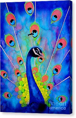 Peacock Canvas Print by Robert Hooper