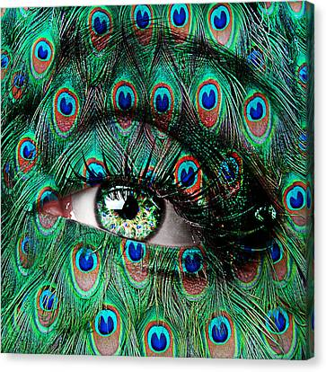 Peacock Canvas Print by Yosi Cupano