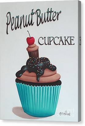 Peanut Butter Cupcake Canvas Print by Catherine Holman