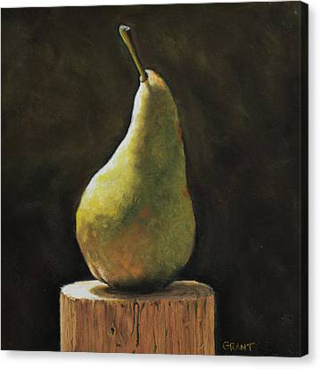 Pear Canvas Print by Joanne Grant