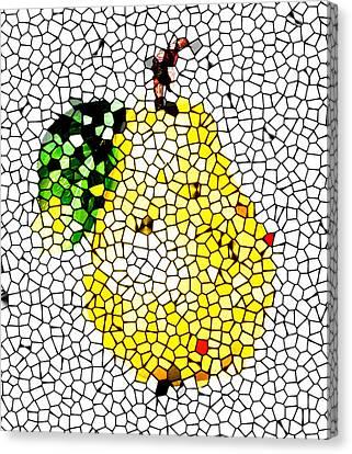Pear Mosaic Canvas Print by Yury Malkov