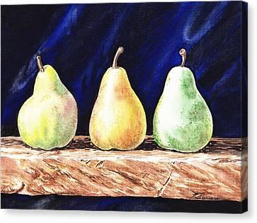 Pear Pear And A Pear Canvas Print by Irina Sztukowski