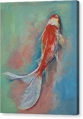 Pearl Banded Koi Canvas Print by Michael Creese