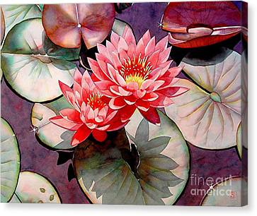 Pearls Of The Pond Canvas Print by Robert Hooper