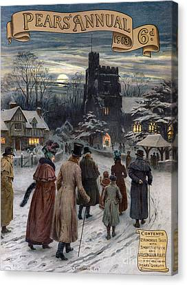 Pears Annual 1913 1910s Uk Cc Villages Canvas Print by The Advertising Archives