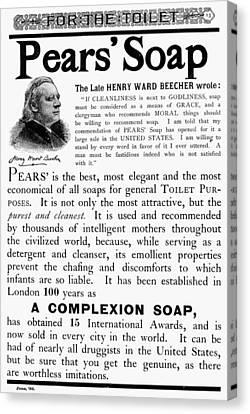 Pears' Soap Ad, 1889 Canvas Print by Granger