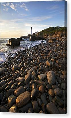 Pebble Beach Canvas Print by Eric Gendron