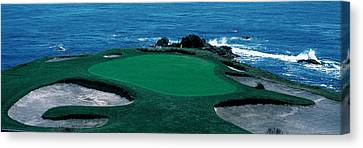 Pebble Beach Golf Course 8th Green Canvas Print by Panoramic Images