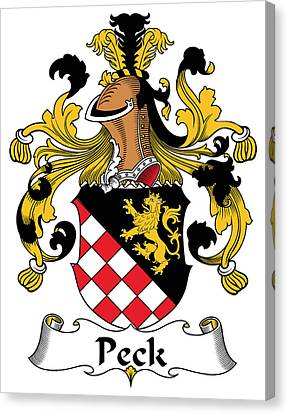 Peck Coat Of Arms German Canvas Print by Heraldry