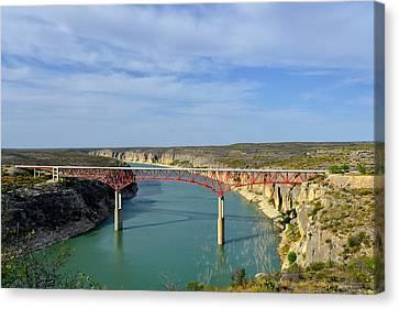 Pecos River High Bridge Canvas Print by Christine Till