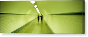 Pedestrian Tunnel, Blurred Motion Canvas Print by Panoramic Images