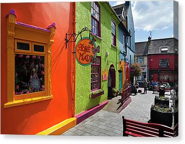 Pedestrianised Street Off Market Canvas Print by Panoramic Images