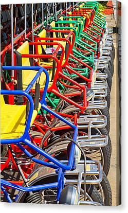 Pedicars Canvas Print by Bernard  Barcos