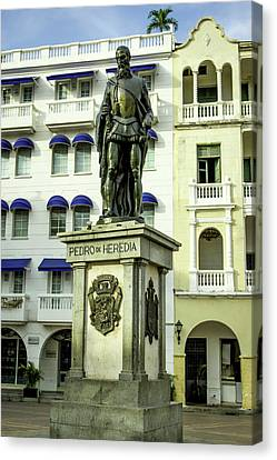 Pedro De Heredia, Founder Of Cartagena Canvas Print by Jerry Ginsberg