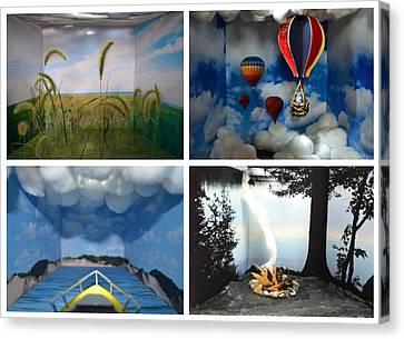 Peepholes Canvas Print by Michelle Calkins
