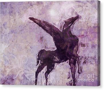 Pegasus Antique Canvas Print by Lutz Baar