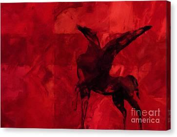 Pegasus Red Canvas Print by Lutz Baar