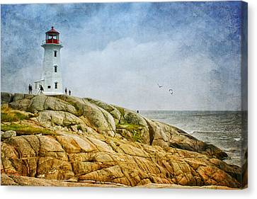 Peggy's Cove Lighthouse - 2 Canvas Print by Nikolyn McDonald