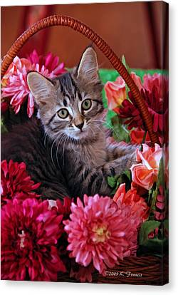Pele In The Flowers Canvas Print by Kenny Francis