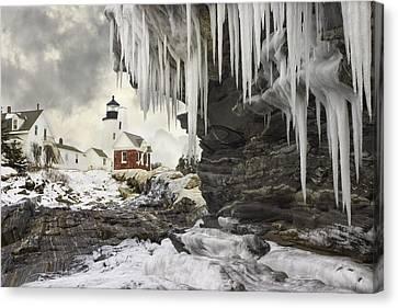 Pemaquid Point Lighthouse On The Maine Coast Canvas Print by Keith Webber Jr
