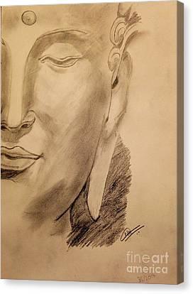 Pencil Buddha  Canvas Print by Navroz  Raje