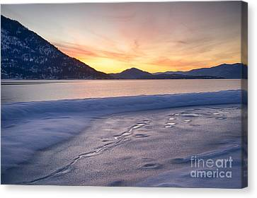 Pend Oreille Dawn Canvas Print by Idaho Scenic Images Linda Lantzy