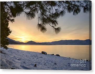 Pend Oreille Sunrise Canvas Print by Idaho Scenic Images Linda Lantzy