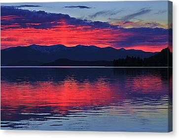 Pend Oreille Sunset Canvas Print by Benjamin Yeager