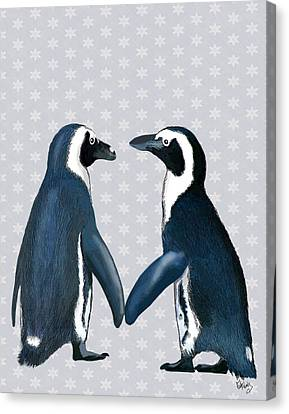 Penguins In Love Canvas Print by Kelly McLaughlan
