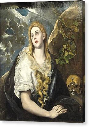 Penitent Magdalene Canvas Print by Celestial Images