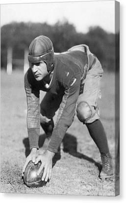 Penn Sate Football Captain Canvas Print by Underwood Archives