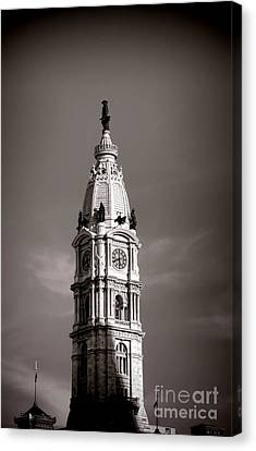Penn Watching Canvas Print by Olivier Le Queinec