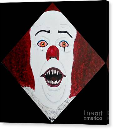 Pennywise Canvas Print by JoNeL Art