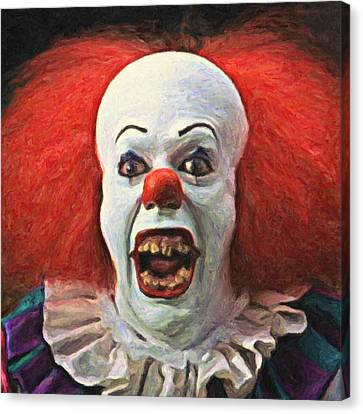 Pennywise The Clown Canvas Print by Taylan Soyturk