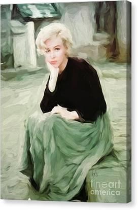 Pensive Marilyn Canvas Print by Lynne Alexander