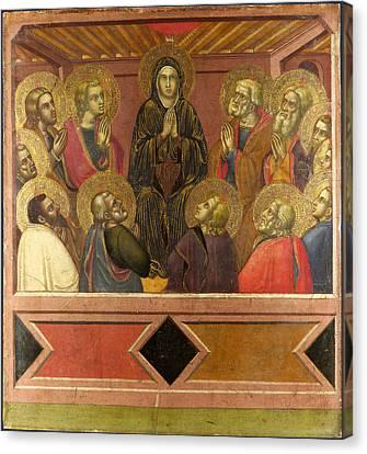 Pentecost Canvas Print by Barnaba da Modena