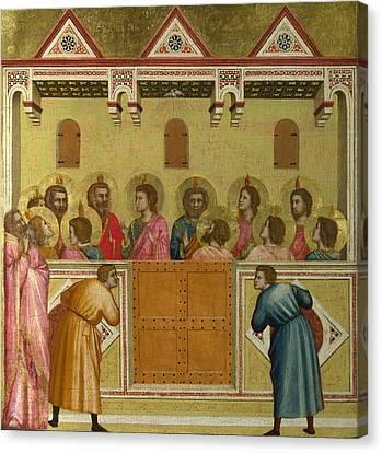 Pentecost Canvas Print by Giotto di Bondone