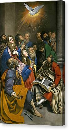 Pentecost Canvas Print by Juan Bautista Maino