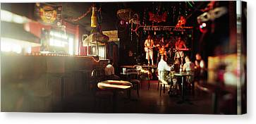 People In A Restaurant, Cha Cha Lounge Canvas Print by Panoramic Images