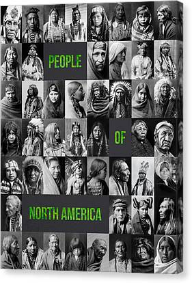 People Of North America Canvas Print by Aged Pixel