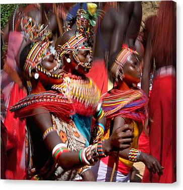 People Of The Samburu Tribe Canvas Print by Panoramic Images