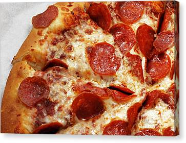 Pepperoni Pizza 2 - Pizzeria - Pizza Shoppe Canvas Print by Andee Design