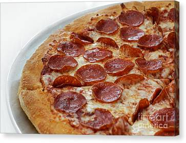 Pepperoni Pizza 3 - Pizzeria - Pizza Shoppe Canvas Print by Andee Design