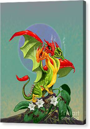 Peppers Dragon Canvas Print by Stanley Morrison
