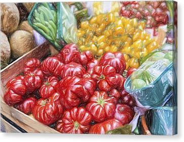 Peppers Canvas Print by Terry J Alcorn